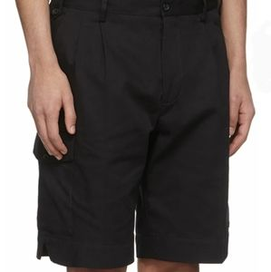 D&G Double Pleated Cargo Shorts with Patched Logo